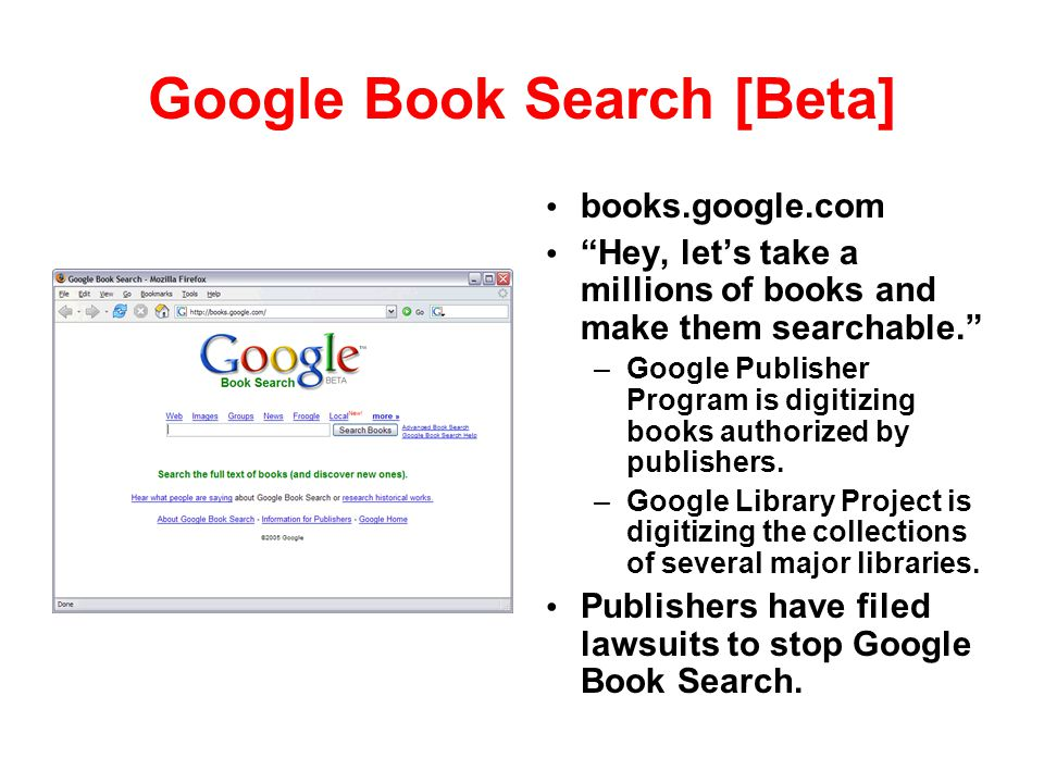 Google Book Search [Beta]
